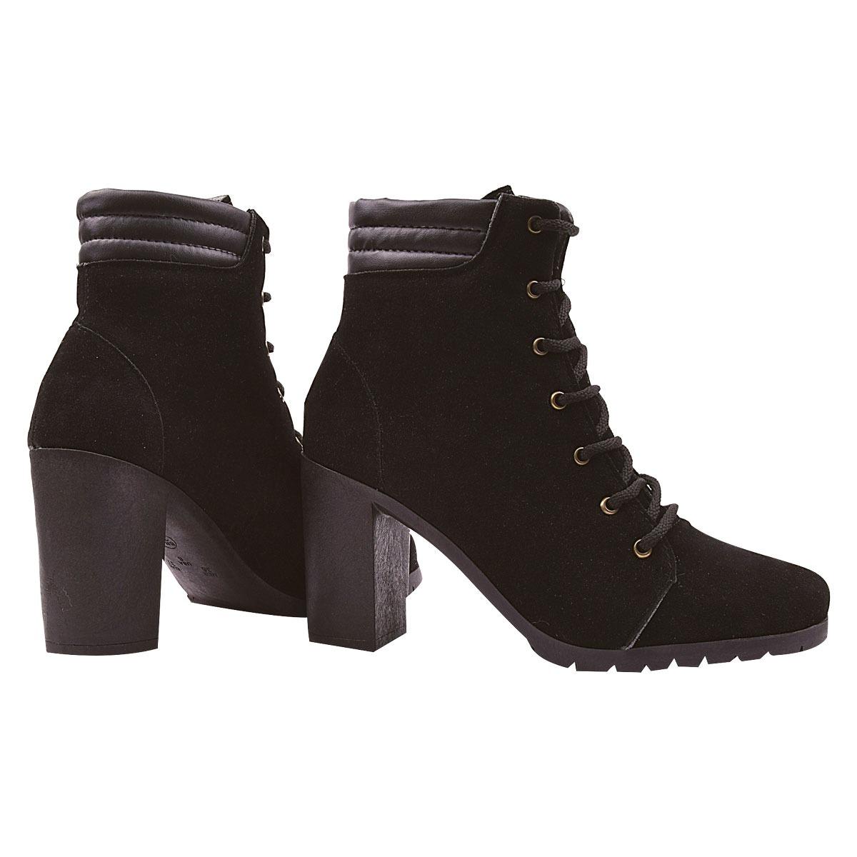 7f9cd30c55 coturno bota feminina cano curto salto alto tratorado 2019-7. Carregando  zoom.