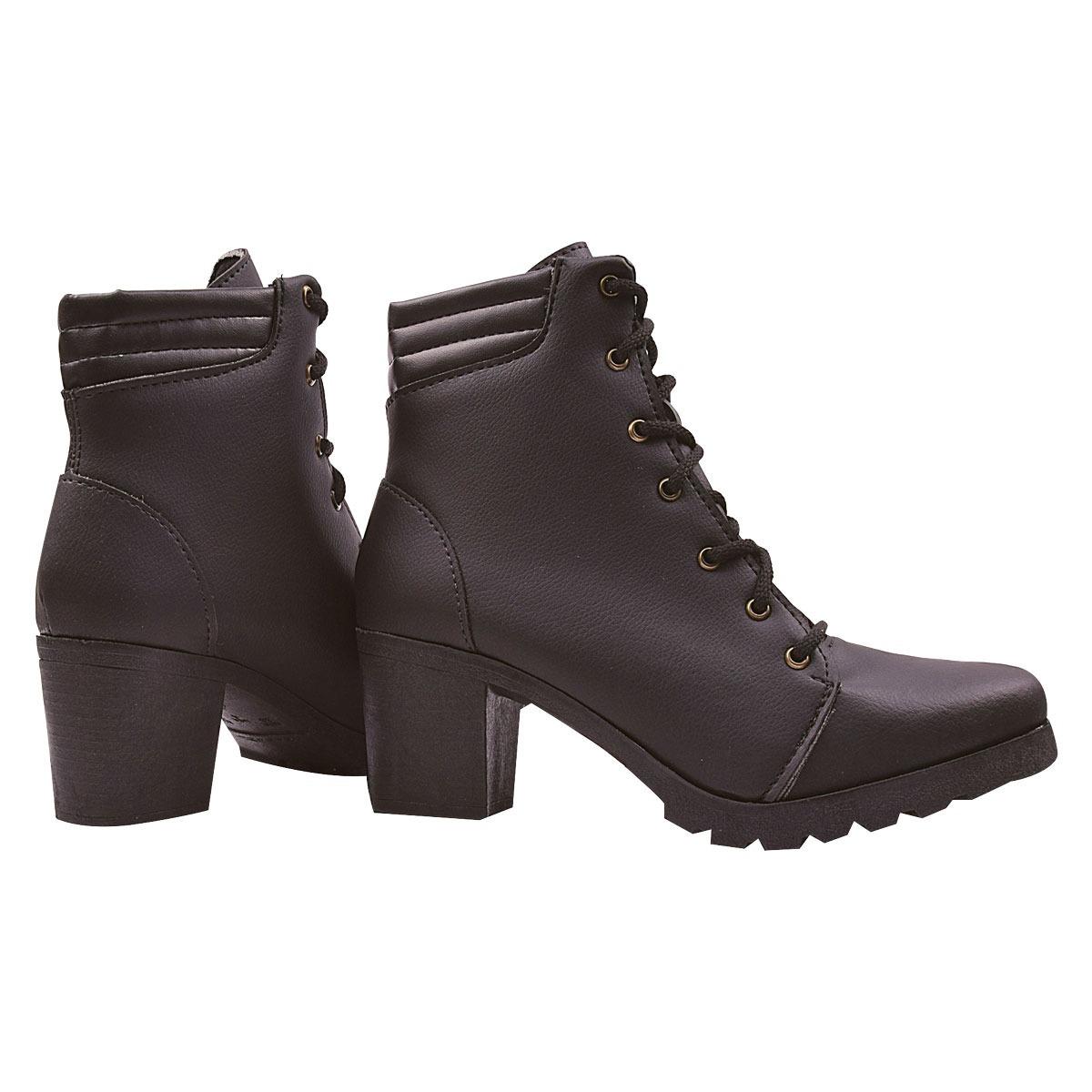 1ca9d13a86 coturno bota feminina cano curto salto alto tratorado jln774. Carregando  zoom.