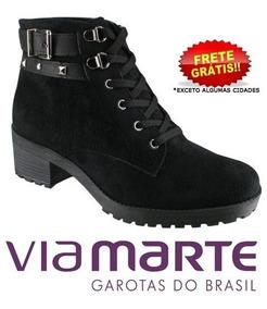 8f208ba47 Bota Coturno Feminina Via Marte Ref 17 3703 - Calçados, Roupas e Bolsas com  o Melhores Preços no Mercado Livre Brasil