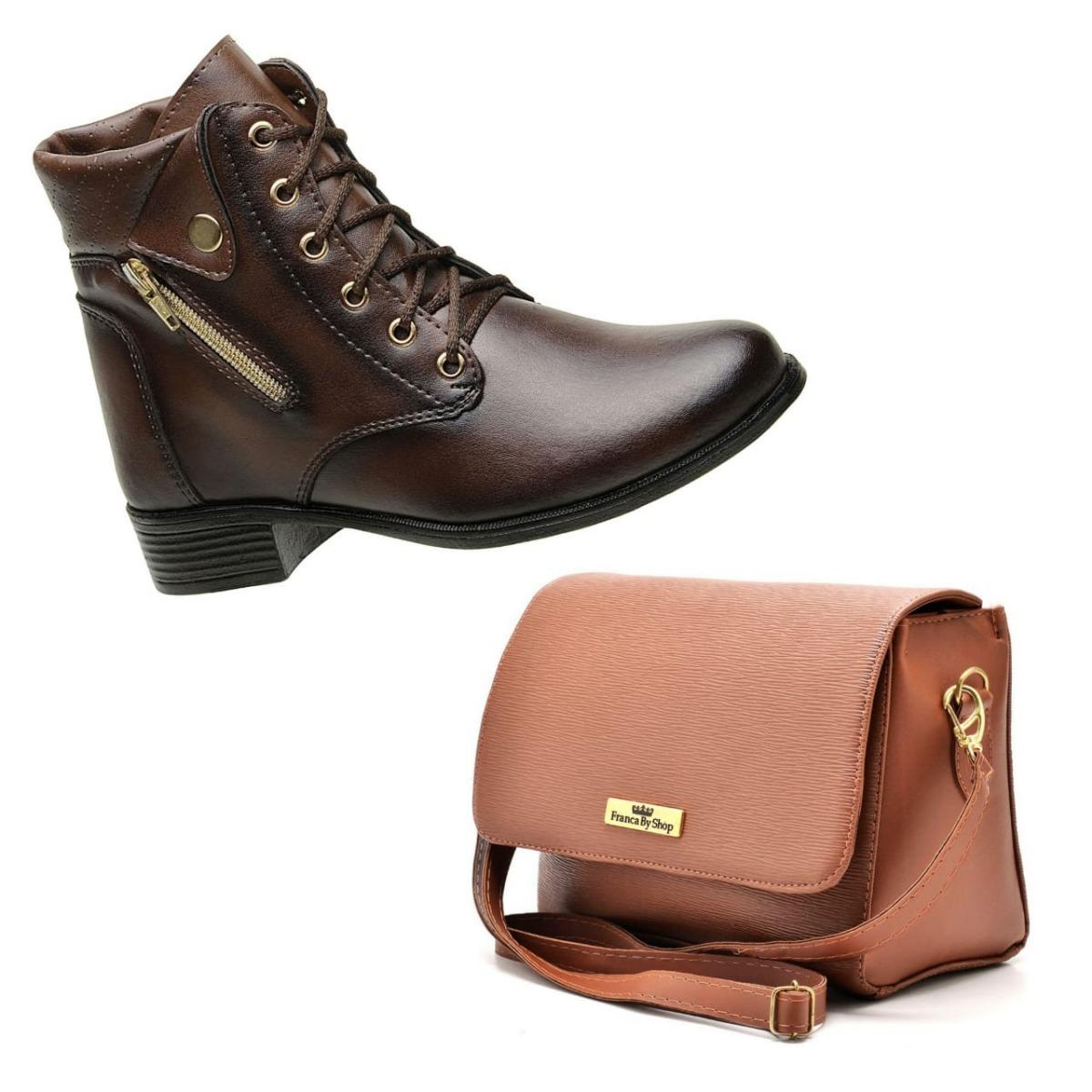336f75d86 coturno bota feminino cano curto + bolsa bau + frete gratis. Carregando zoom .
