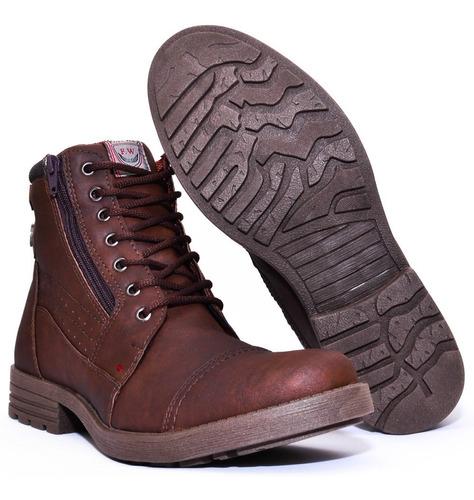 coturno bota masculina casual leve fashion promoção