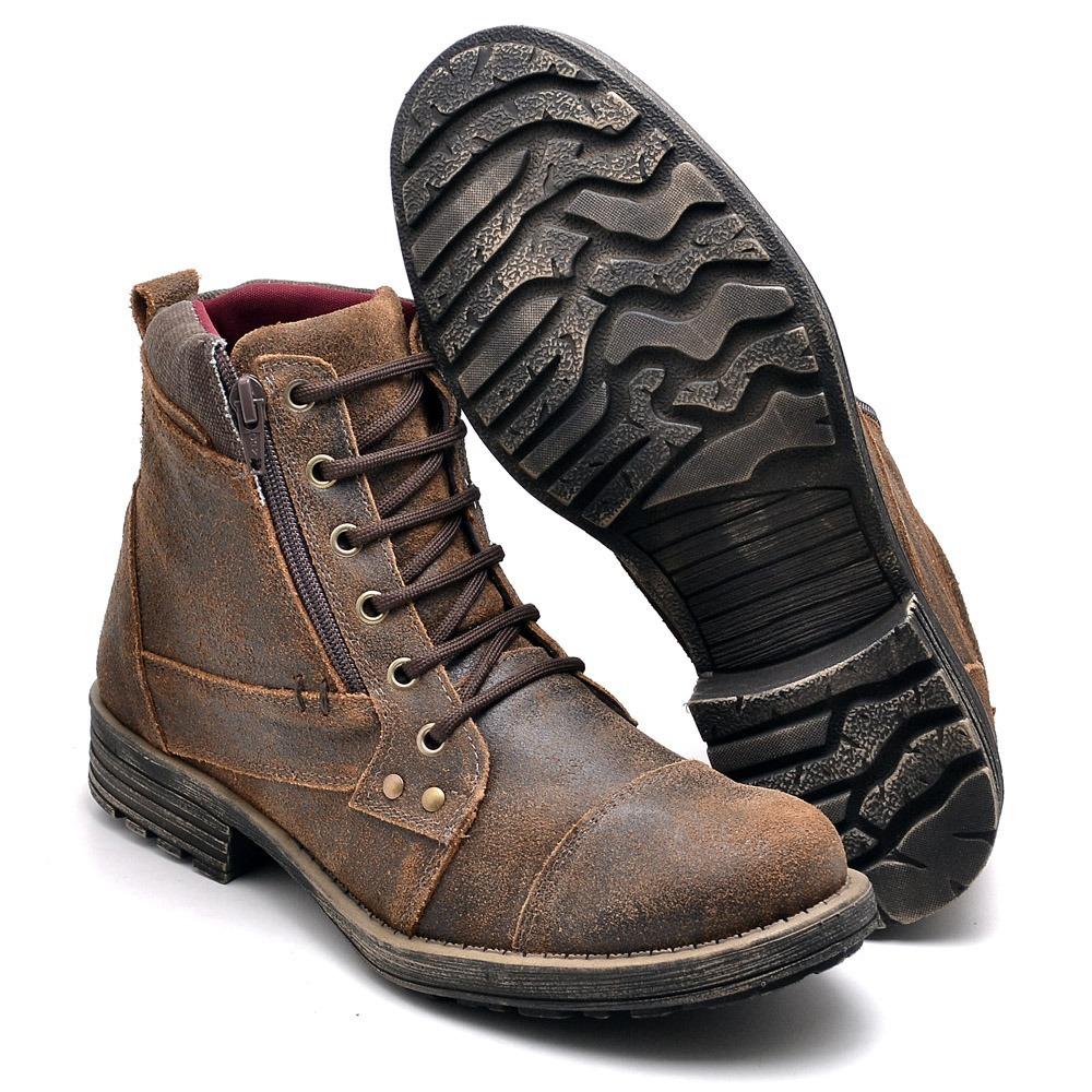 52c41390880 coturno bota masculino couro sapato casual top 2018 frete gt. Carregando  zoom.