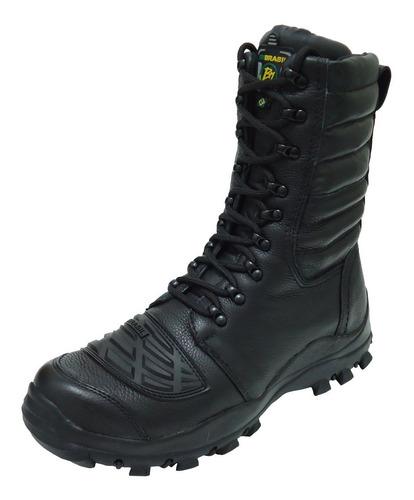 coturno bota militar tatica motocross elite couro airsoft