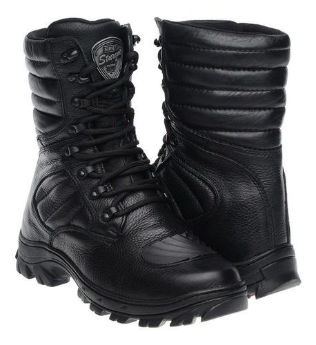 coturno bota militar tatical padrão americano couro legitimo