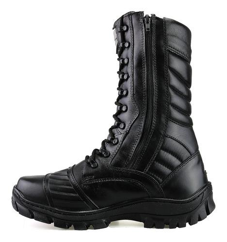 coturno bota militar ziper tatico segurança padrao policia