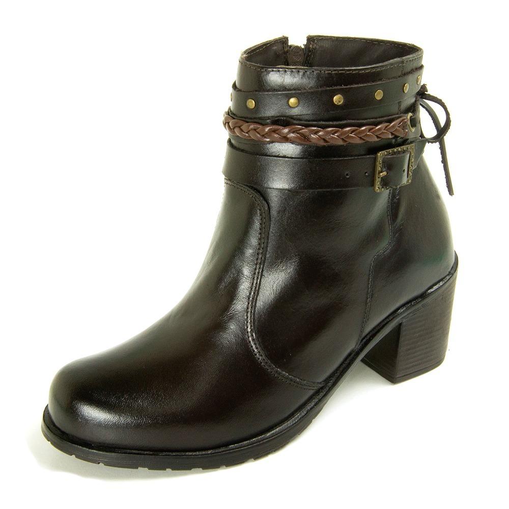 782c937ece coturno cano medio bota de couro feminina sola baixa. Carregando zoom.