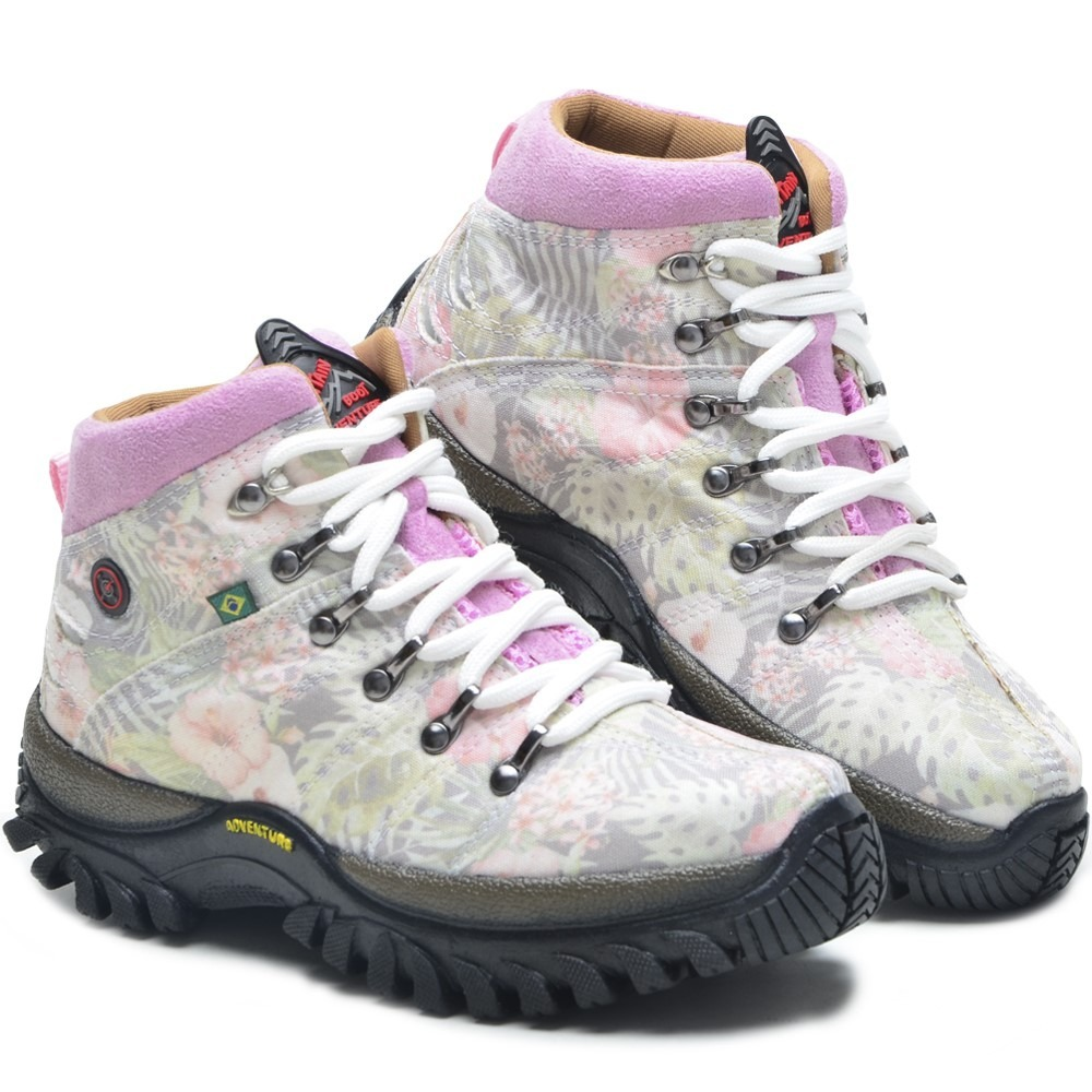 b2e23bc36 coturno estampado adventure feminino bota robusta linda. Carregando zoom.
