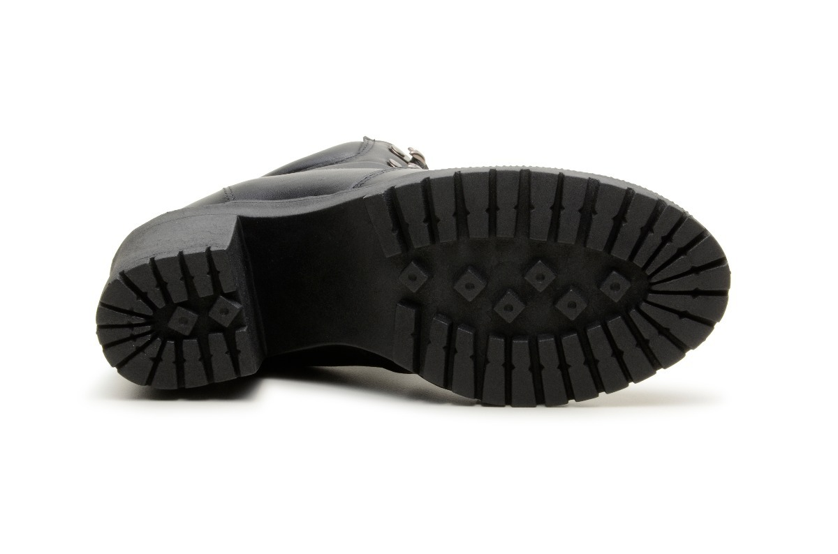 7d1794274c Carregando zoom... bota coturno feminino 100% couro confort salto alto preto