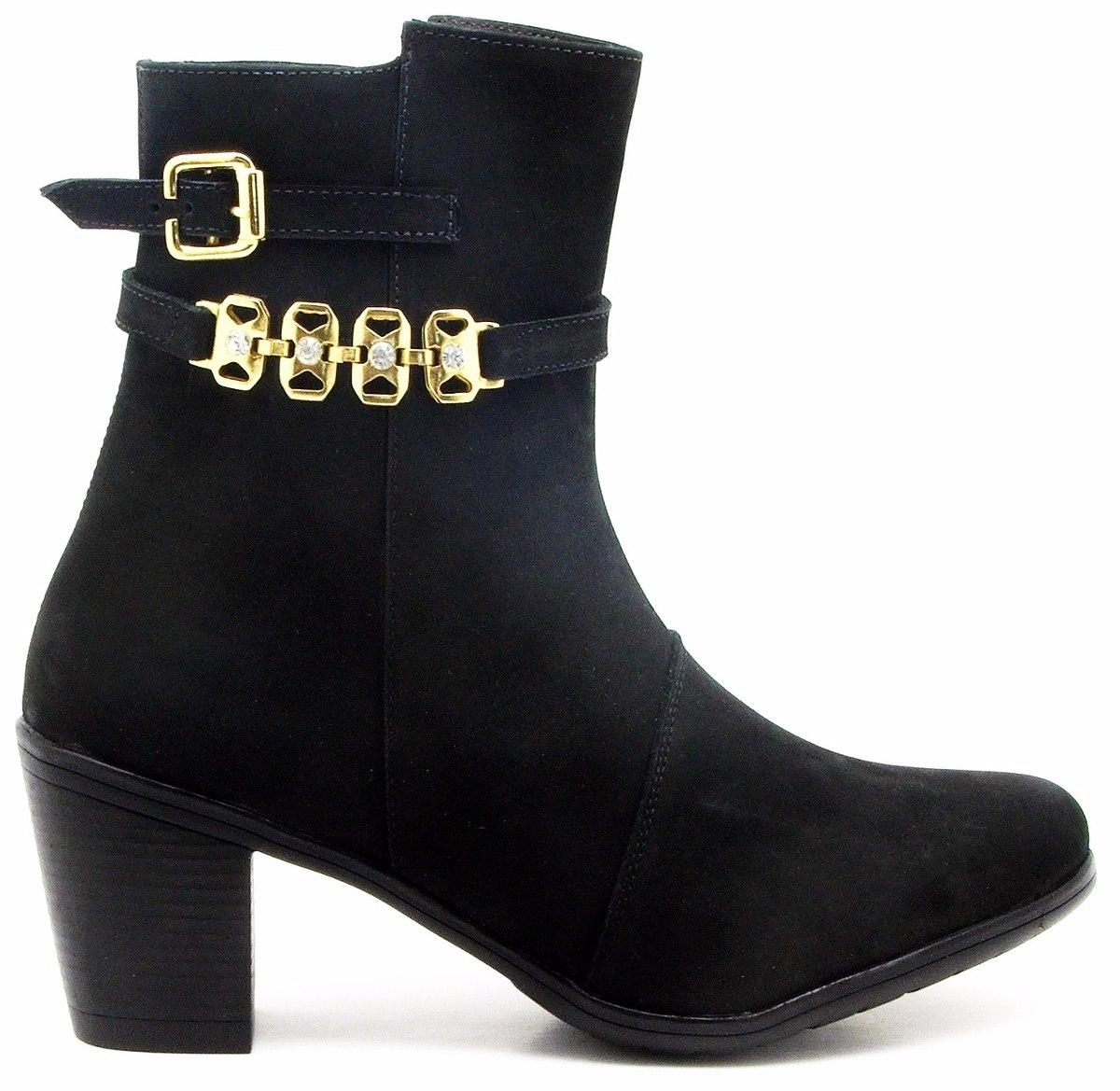 ddddbdf57 coturno feminino bota cano curto couro preto estiloso blog. Carregando zoom.