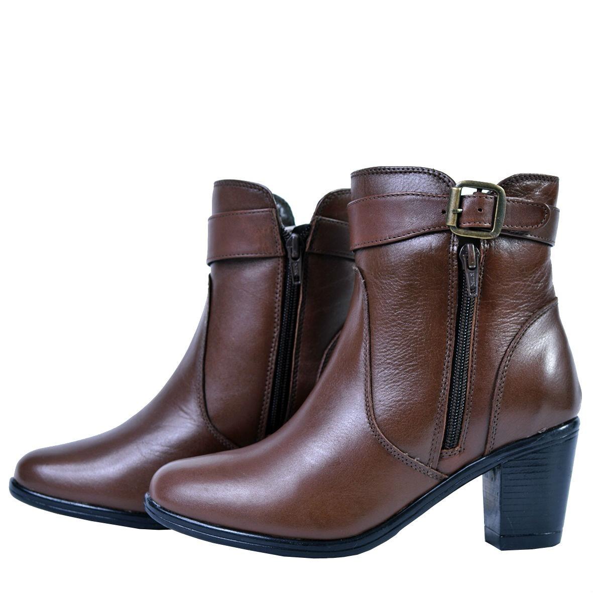 82f317926 coturno feminino bota cano médio marrom rock lindo !!! 243. Carregando zoom.
