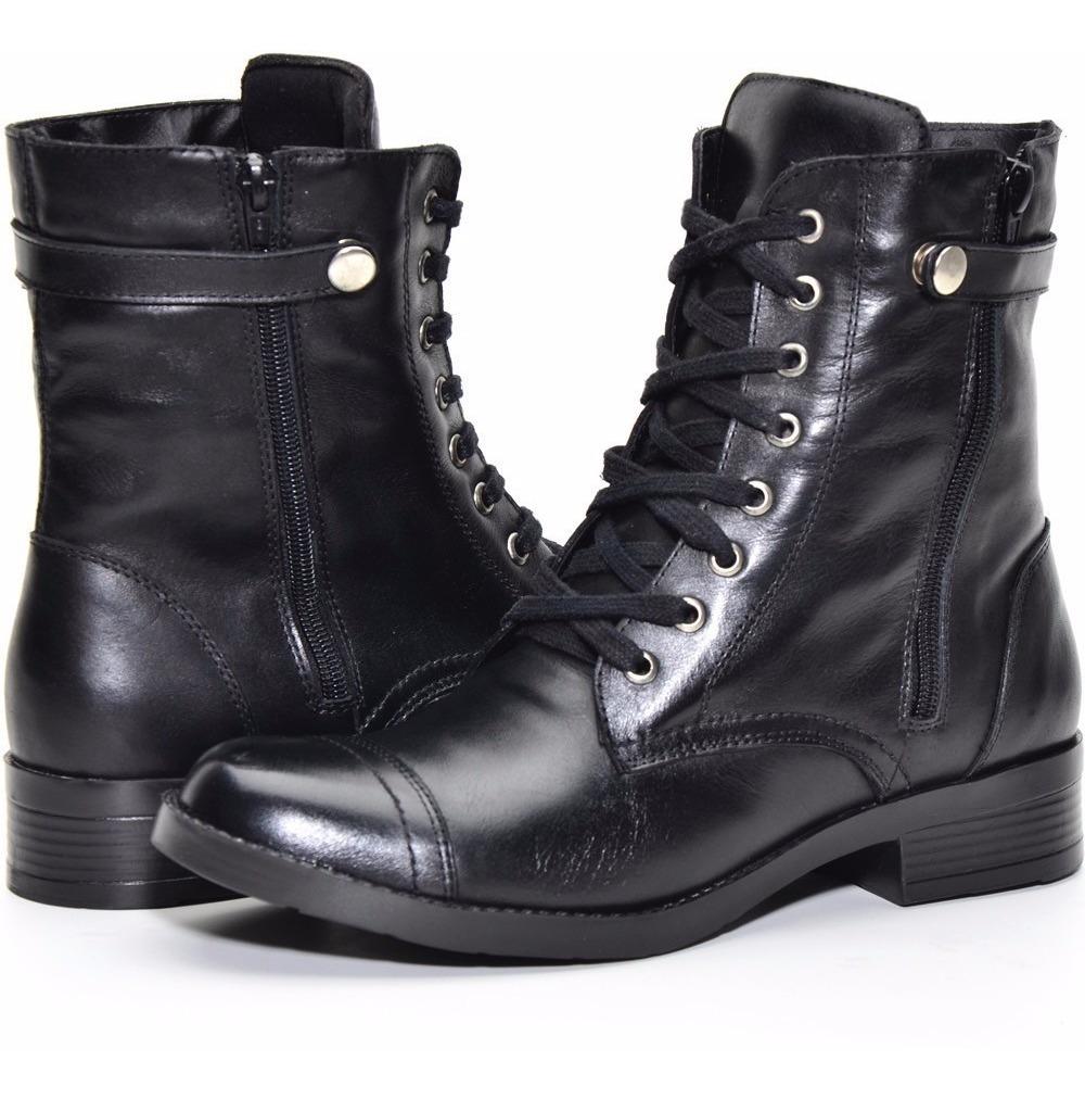 1a69e615fb coturno feminino couro legítimo bota atron shoes preto 7080. Carregando  zoom.