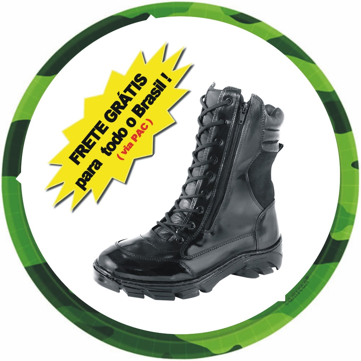 dca65937c4 coturno militar bota tatica swat paintball fbi motociclista. Carregando zoom .