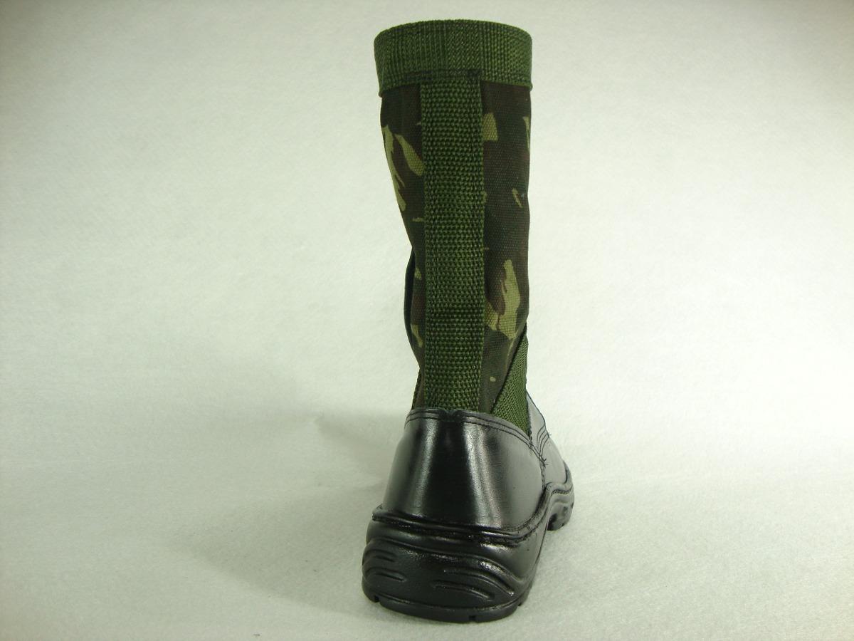 6480dc65fa0cb coturno militar masculino selva - cano camuflado com zíper. Carregando zoom.