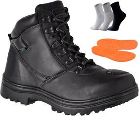 0cd537d21e Coturno Militar Marrom Com Ziper - Calçados