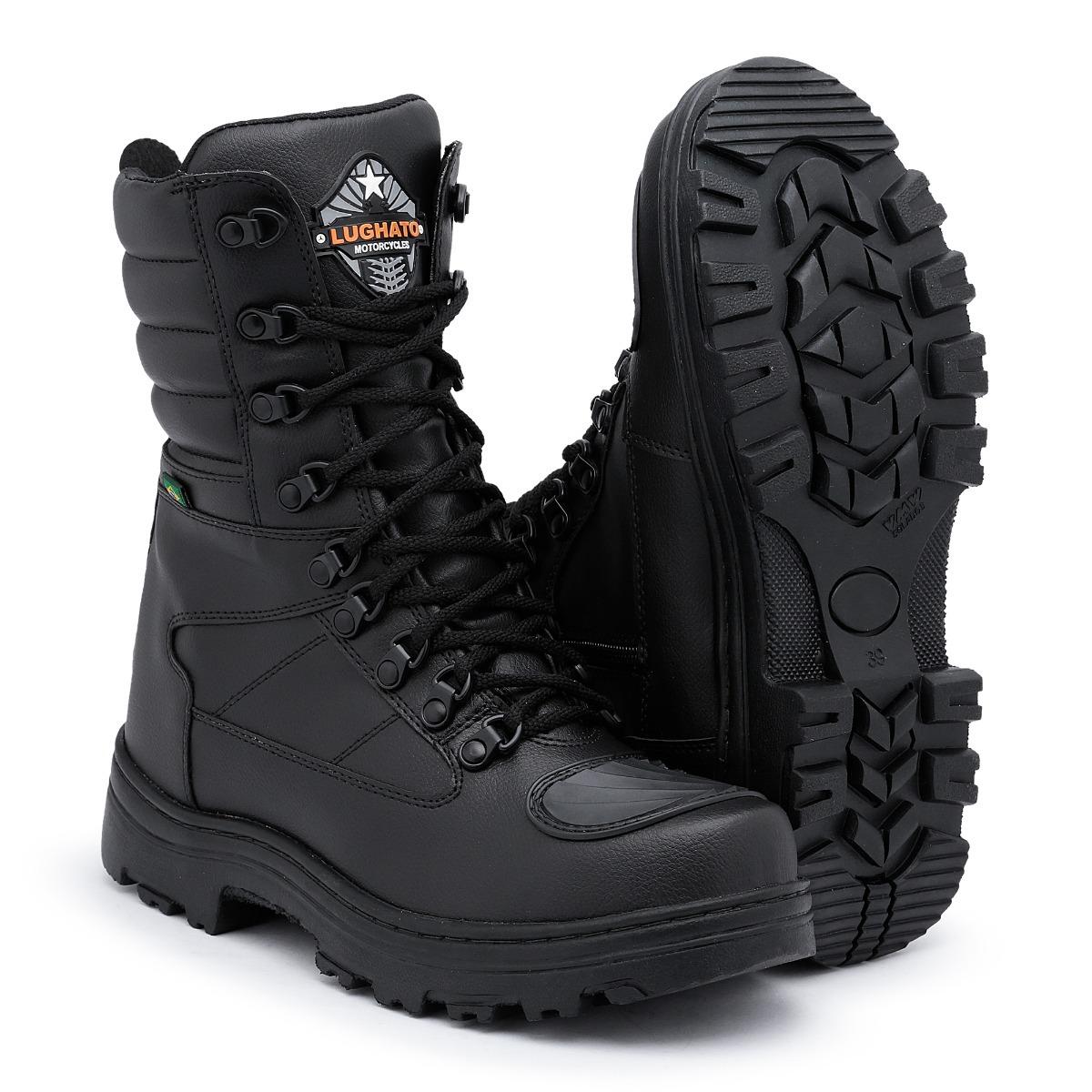42f1e1271b534 Coturno Motociclista Bota Militar Lughato Kit 2 Pares - R$ 600,00 em ...