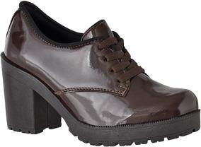 2d9f78655 Oxford Salto - Sapatos Sociais e Mocassins para Feminino Oxfords com o  Melhores Preços no Mercado Livre Brasil
