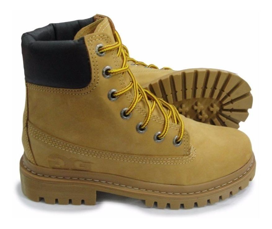 a8b5022067 Coturno Qix Double G Caramelo Yeloow Boot - R$ 249,90 em Mercado Livre