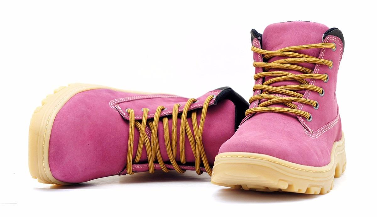 0fa7e8a2b4 coturno rosa bota feminino lançamento 100% couro tenis moto. Carregando zoom .