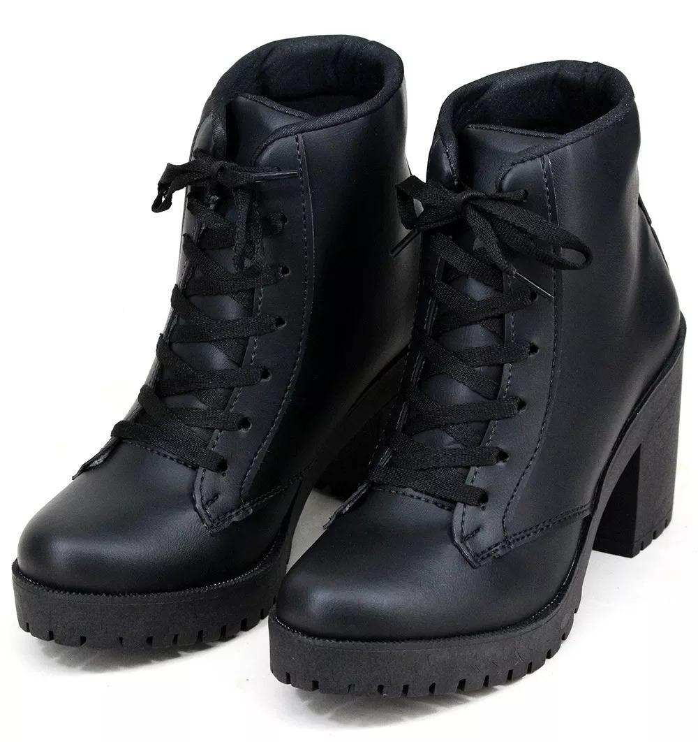 4dff63dd00 coturno sapato feminina salto grosso tratorado pop rock lind. Carregando  zoom.