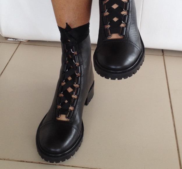 e9206a56f Coturno Schutz Tratorada Lace-up Black - R$ 490,00 em Mercado Livre