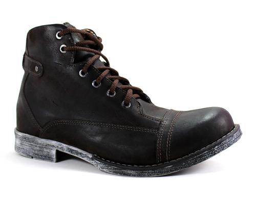 coturno urbano bota rústica masculina moda lançamento top