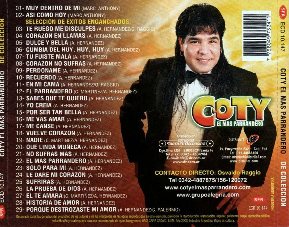 cd de coty el mas parrandero-de coleccion