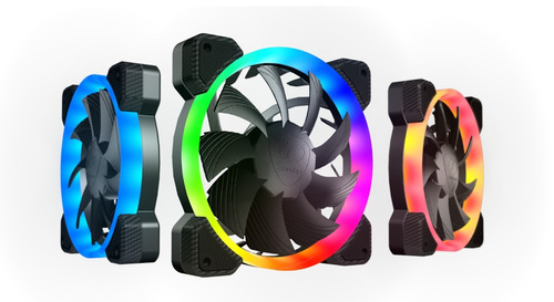 cougar ventilador vortex hpb 120mm rgb kit con tres