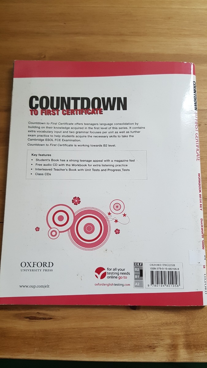 countdown to first certificate. workbook - oxford. Cargando zoom.