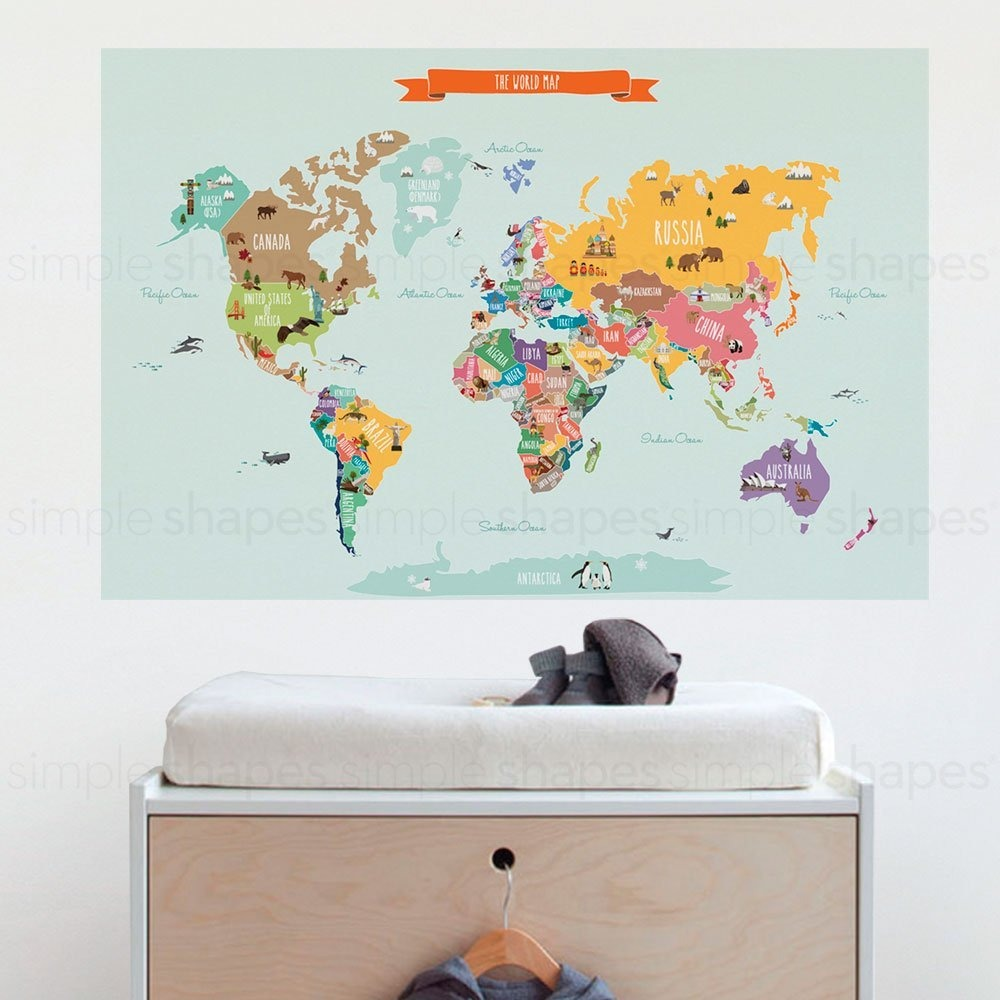 Countries of the world map poster wall sticker small 35 countries of the world map poster wall sticker small 35 cargando zoom gumiabroncs Gallery