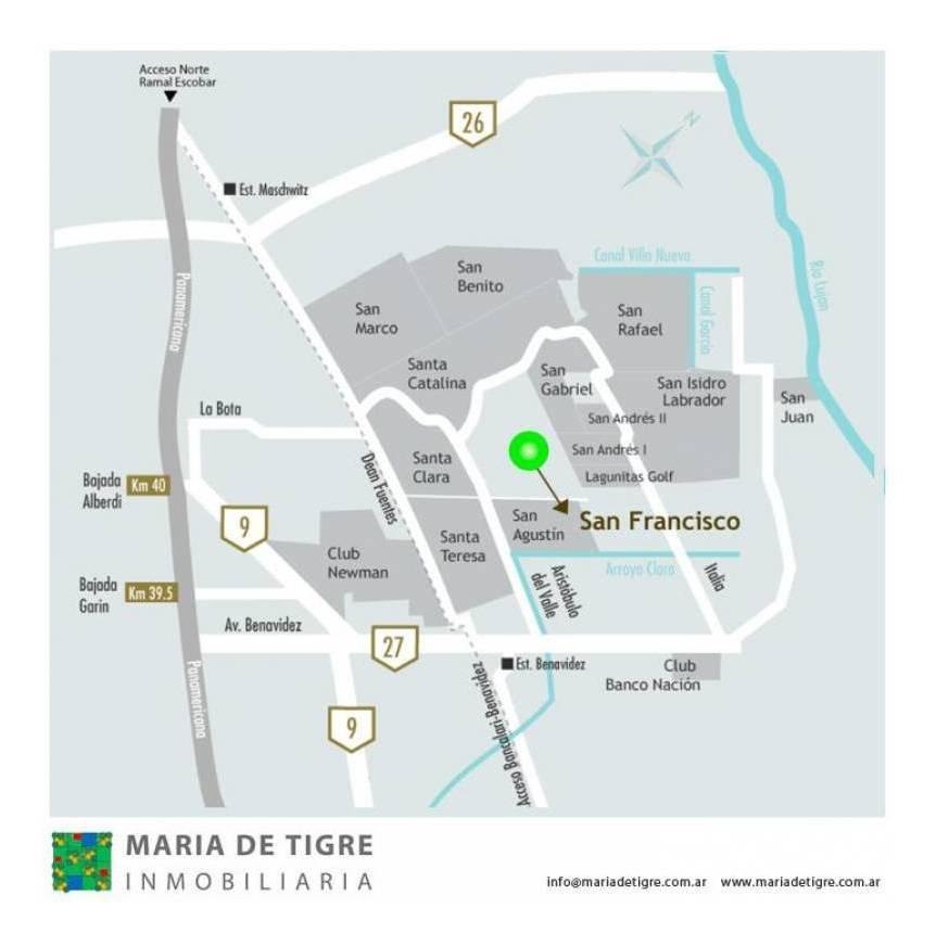 countries y barrios cerrados venta san francisco (tigre)