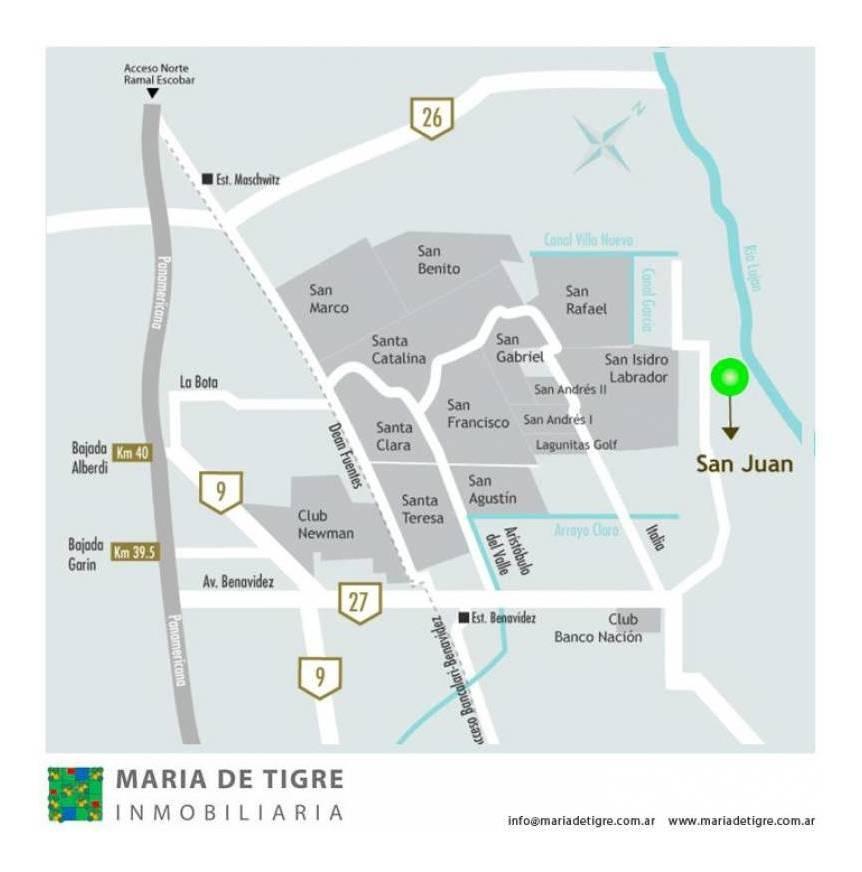 countries y barrios cerrados venta san juan (tigre)