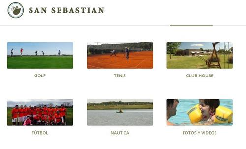 country club san sebastian - terreno