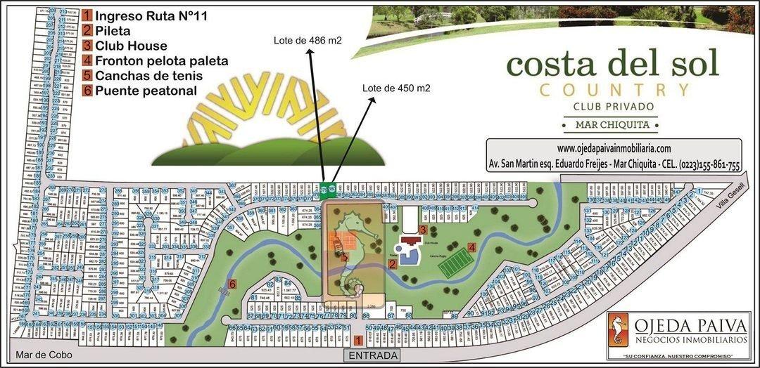 country costa del sol -  mar chiquita - financiado