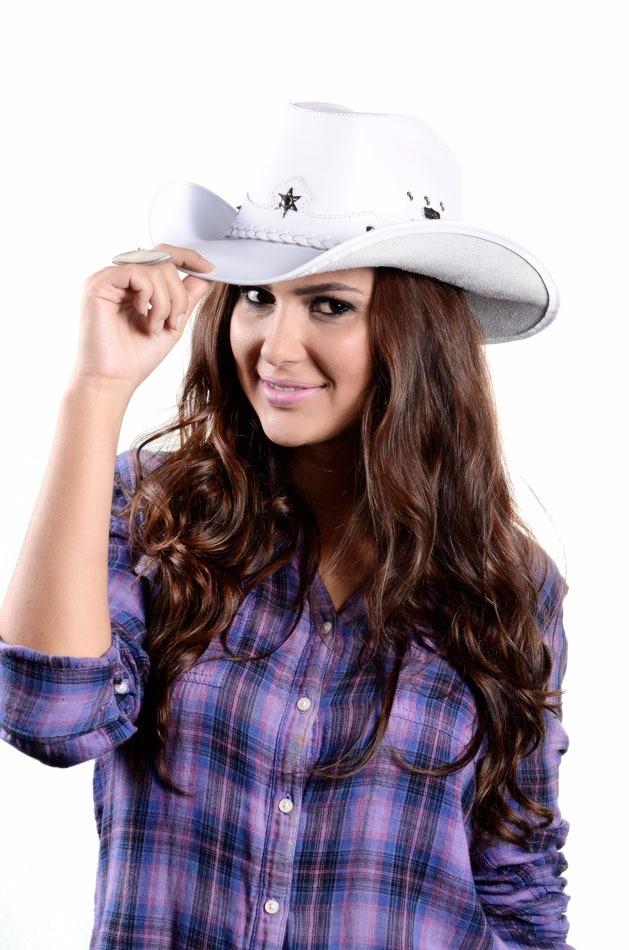 Chapéu Country Americano Feminino 100% Couro Texas Capelli - R  94 ... 2ba07826681