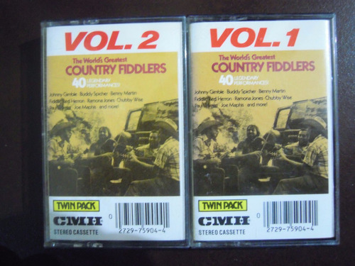 country fiddlers casette vol. 1 y 2 the worlds greatest