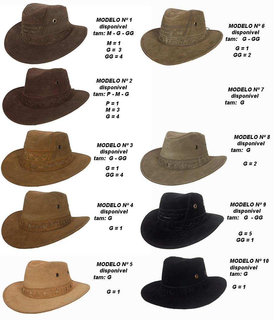 Chapéu Country Boiadeiro Cowboy Masculino Feminino Couro - R  79 64975c6a9b9