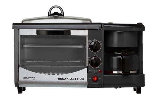 courant cbh-4601r 3-en-1 multifunción desayuno hub (4 rebana