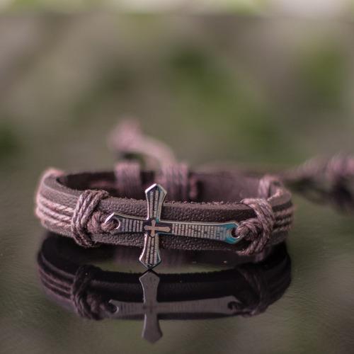 couro bracelete pulseiras masculinas
