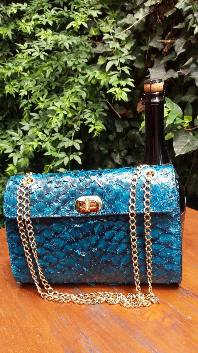 fd4c7ed528 Carregando zoom... bolsa couro de pirarucu legítimo artesanal fem luxo  clutch. Carregando zoom.