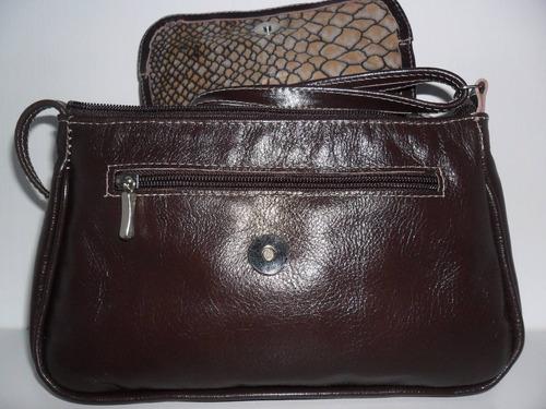 9011ce7ee couro feminina bolsa. Carregando zoom... bolsa em couro legítimo fino  acabamento feminina marrom esc