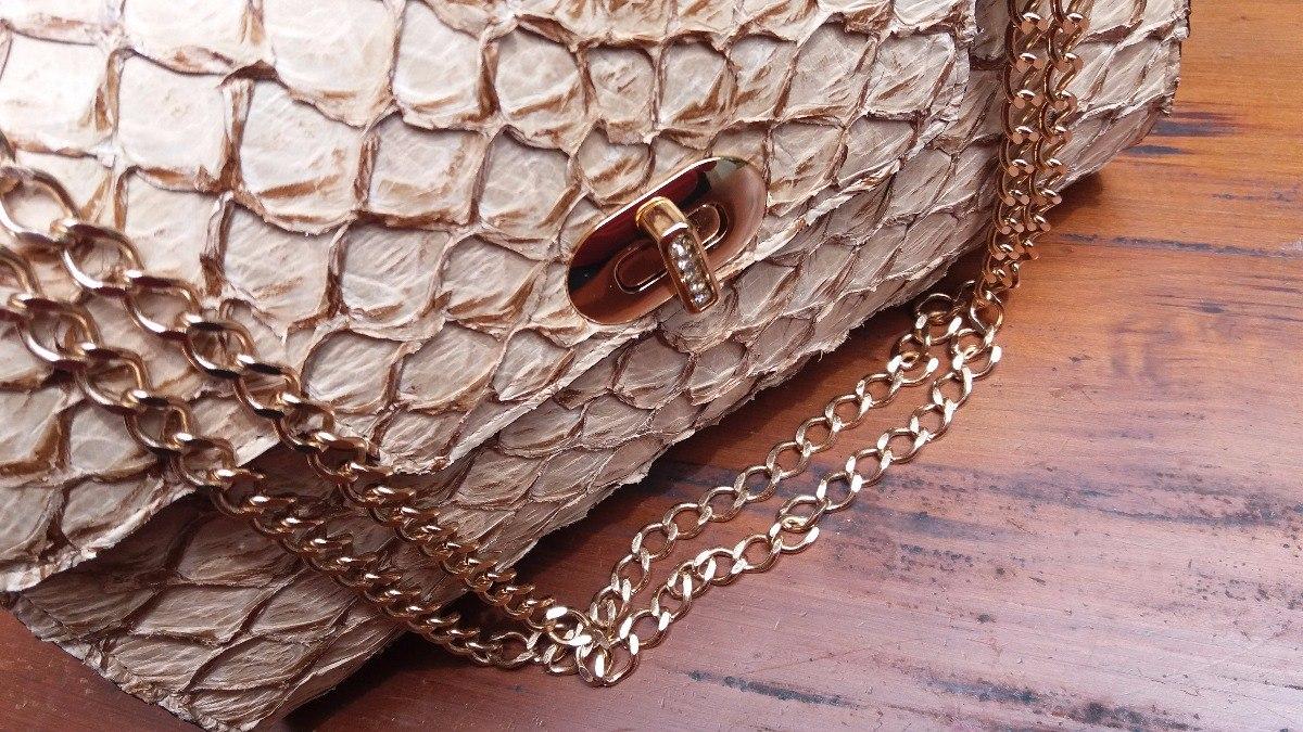 579eeafd1b Carregando zoom... bolsa clutch couro pirarucu artesanal luxo feminina