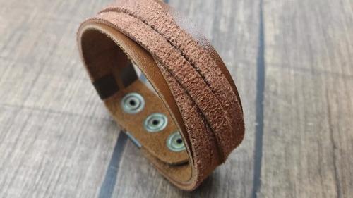 couro feminina pulseiras