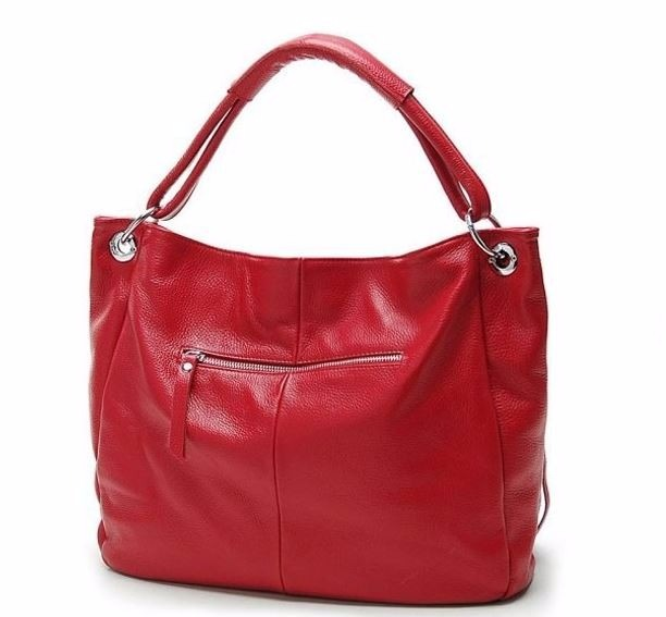 Bolsa Feminina Casual : Bolsa feminina casual vermelha pu couro sint?tico r