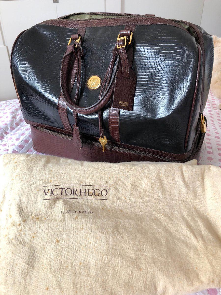 f8fda5cce Mala De Mão Em Couro Victor Hugo - R$ 2.500,00 em Mercado Livre