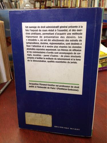 cours de droit administraif (francés) - jaqueline morand.