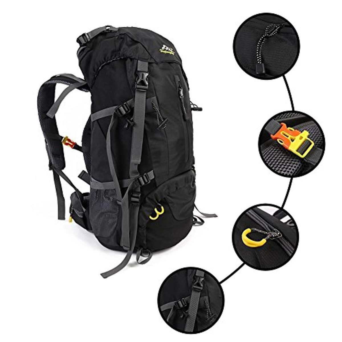 7d78dcef1f43 Coutudi 50l Durable Unisex Hiking Backpack