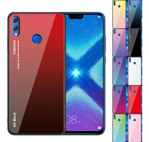 cover cristal degrade colores honor 8x