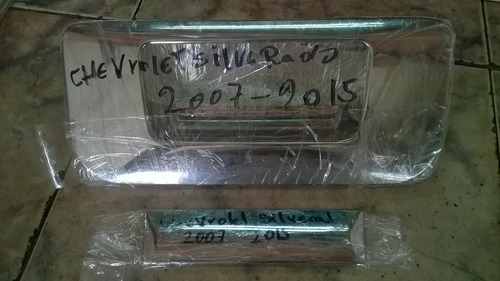 cover cromado puerta trasera compuerta silverado 2007 2015