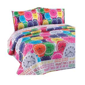 7f2e038f1 Cover Cubrecama Verano Mantra 1 1/2 Plaza Quilt Set X2 Once