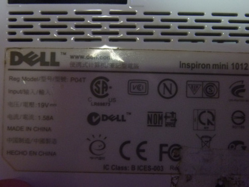 cover panel plastico posterior net dell inspiron mini 1012